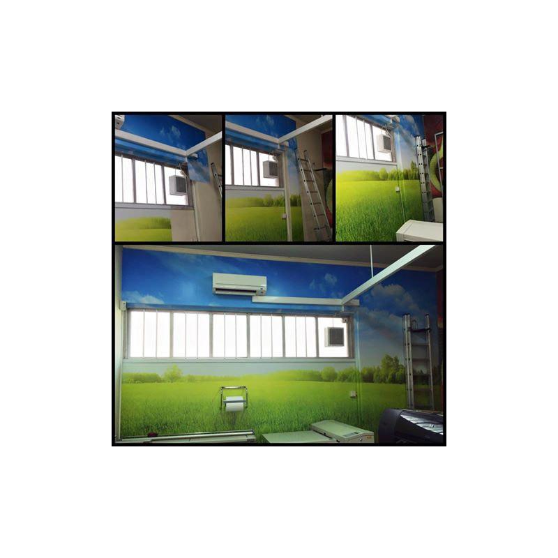 Artesanato Uniart ~ Vinil branco de interior até 50x100cm