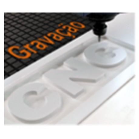 Corte e gravação em fresa CNC