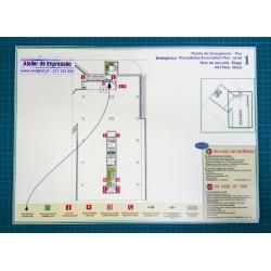 3x Plantas de emergência formato A3